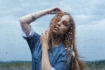 woman Dance in the rain