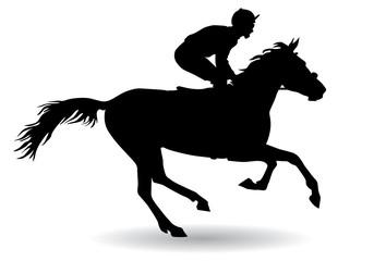 Jockey on a horse