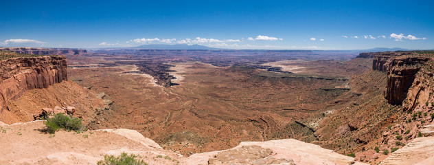 Panorama beim Green River Outlook im Island in the Sky District des Canyonlands National Park, Utah