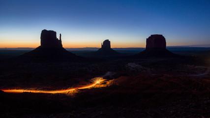 Nacht über dem Monument Valleys