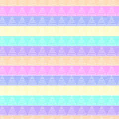 Colorful seamless pattern with ornate triangles