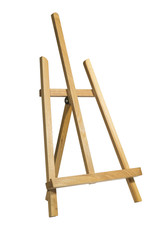 Small easel on white background