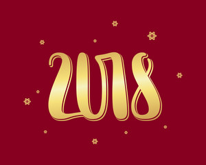 Vector numbers 2018, new year template illustration.
