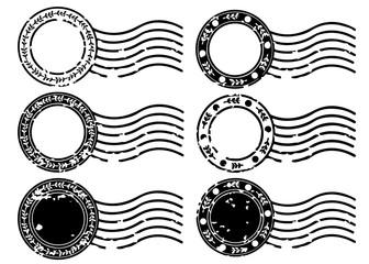 Blank label postage stamps set.illustration vector