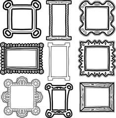 Set of frames doodles