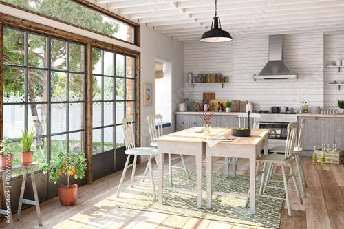 skandinavische nordische k che esszimmer wohnung. Black Bedroom Furniture Sets. Home Design Ideas