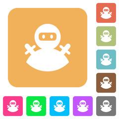 Ninja avatar rounded square flat icons