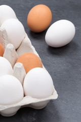 Eier Schachtel Eierschachtel Ei Hochformat Schieferplatte Essen