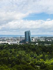 Europa, Deutschland, Hessen, Frankfurt, Skyline von Frankfurt,die EBZ,