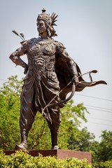 Statue of the great archer Arjuna