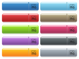 Image tools icons on color glossy, rectangular menu button