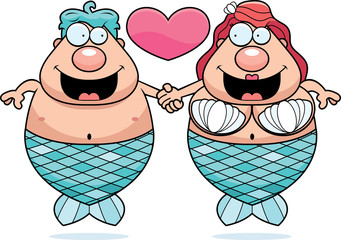 Cartoon Mermaid Couple