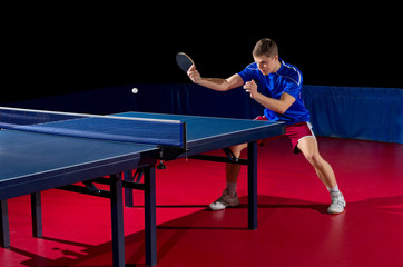 Young man table tennis player