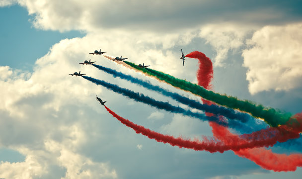 air show in a summer day