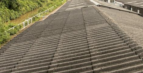 grey asbestos roof texture background.