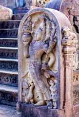 Polonnaruwa Ancient Granite Columns. Polonnaruwa Is The Second Most Ancient Of Sri Lankas Kingdoms