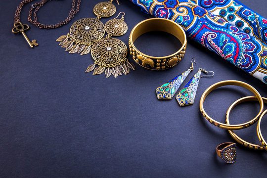 Female indian jewellery and accessories