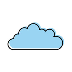 cloud sky isolated icon