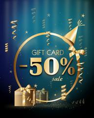 Gift voucher discount 50%