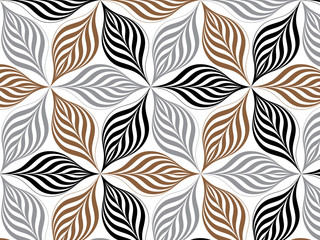 flower pattern vector, repeating linear petal of flower, Geometric vector pattern repeat
