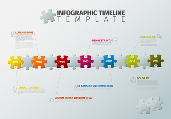 Puzzle Piece Timeline Infographic