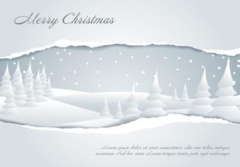 Paper Tear Christmas Banner