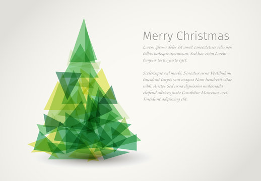 Polygon Tree Christmas Banner Layout