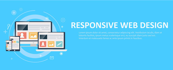 Responsive web design, including laptop, desktop, tablet and mobile phone.