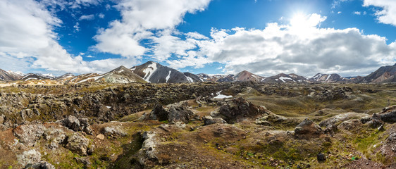 Landmannalaugar valley in Iceland
