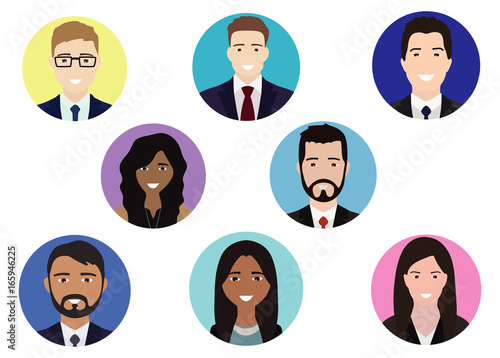 Happy People Avatar For Business Card People Icon For Web Site Or
