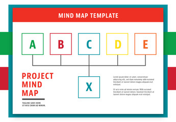 Mind Map Layout with Red Header 1