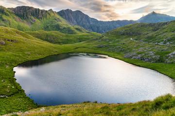 Small lake under Snowdon Peak, Wales