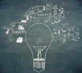 Leadership and idea concept