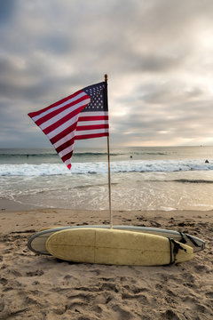 Flag and Surfboards