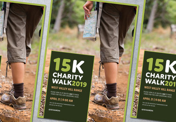Charity Run or Walk Event Poster Layout