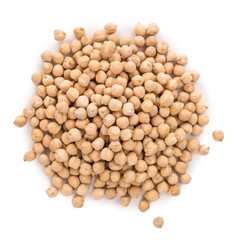 Portion of Chickpeas isolated on white