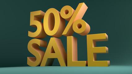 50% Sale, Special Offer (3D Render)
