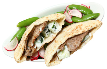 Mediterranean Middle East Fusion Beef Pita