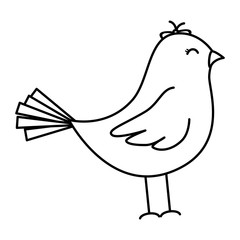 cute bird drawing icon