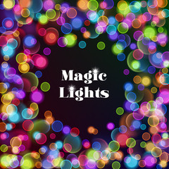 Abstract background with bokeh lights. Vector Illustration