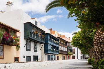 Beautiful balconies at Santa Cruz de La Palma