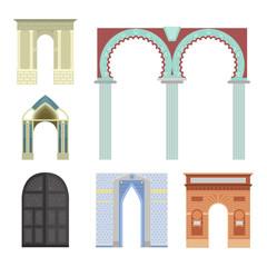 Arch vector architecture construction frame column entrance design classical illustration