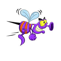 Cartoon Bug Flying