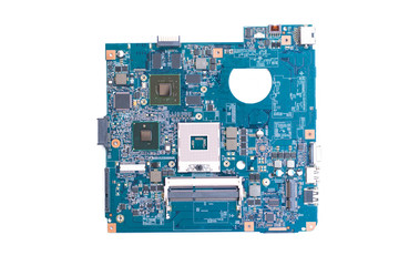 Wall Mural - motherboard computer isolated on a white background