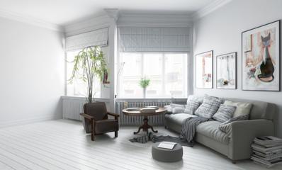 Möbliertes Apartment (Teilentwurf)