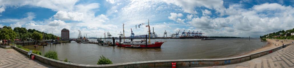 Panorama Museumshafen Oevelgönne Hamburg