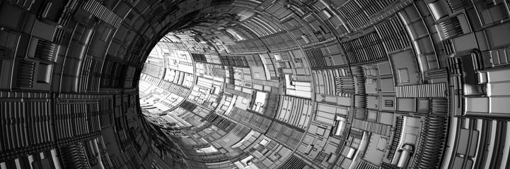 Tunel 3D ze światłem na końcu