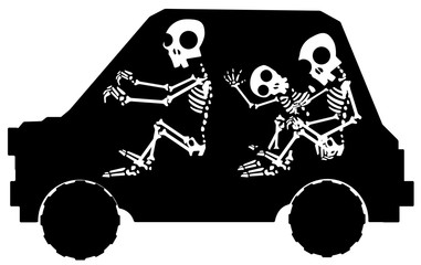 Skeleton Car Stencil