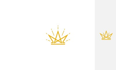 Crown, gold, emblem symbol icon vector logo