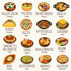 Mediterranean cuisine set